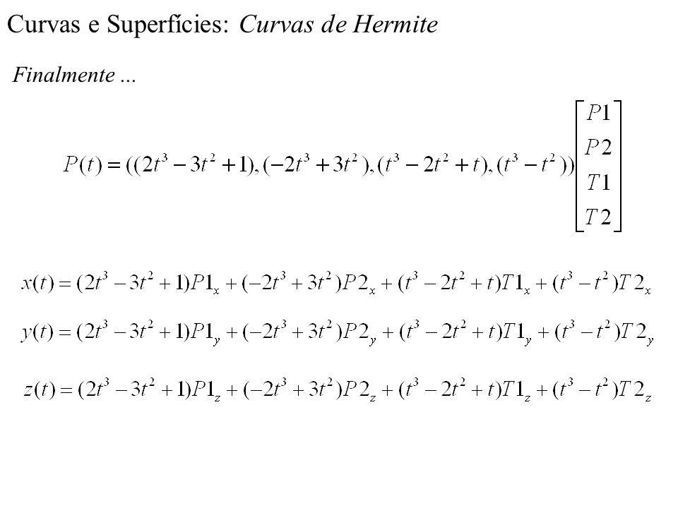 Curvas e Superfícies: Curvas de Hermite Finalmente...