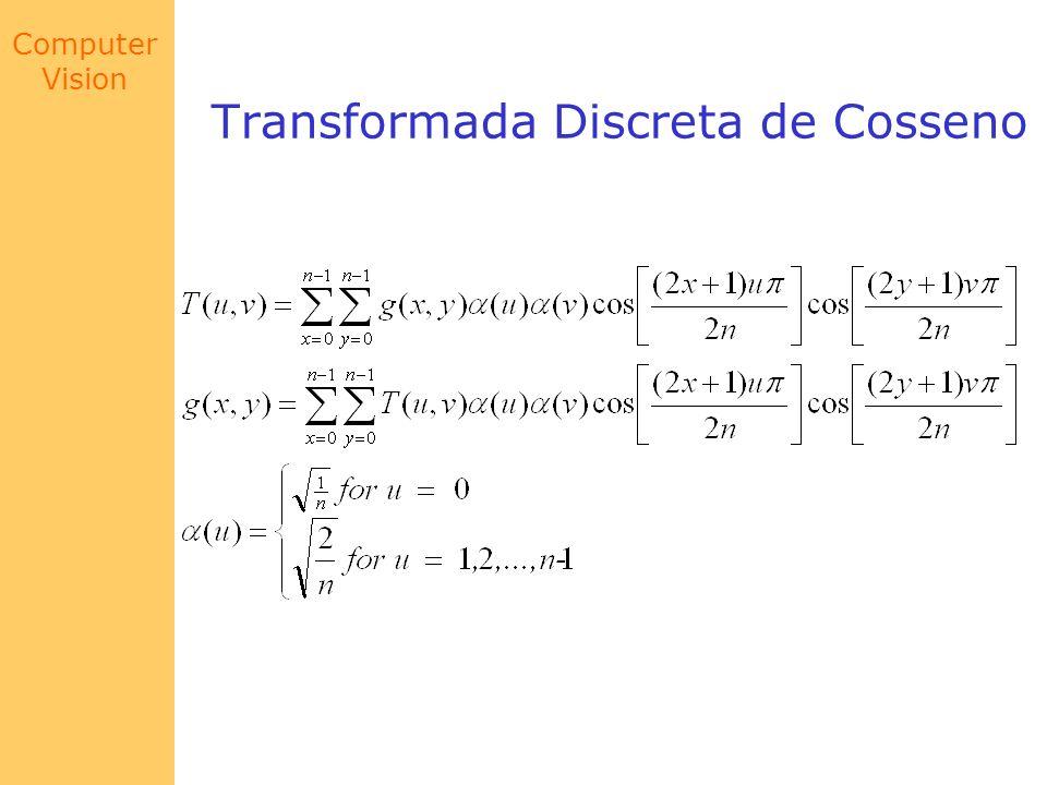 Computer Vision Transformada Discreta de Cosseno