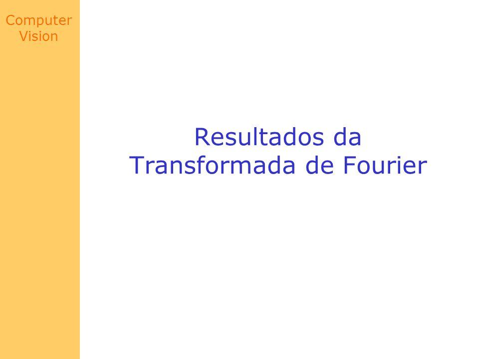 Computer Vision Resultados da Transformada de Fourier