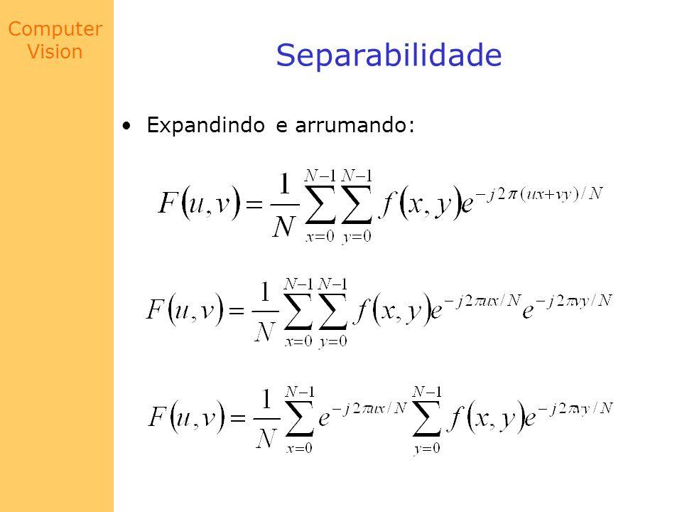 Computer Vision Exemplo 2: Gaussiana f(x) x || F(w) || w
