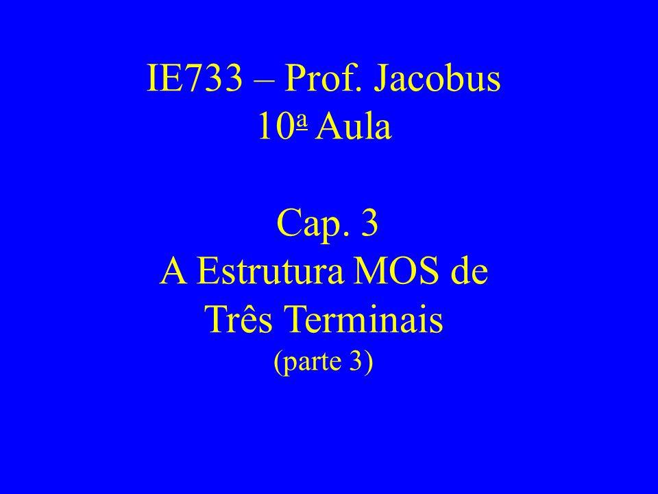 IE733 – Prof. Jacobus 10 a Aula Cap. 3 A Estrutura MOS de Três Terminais (parte 3)