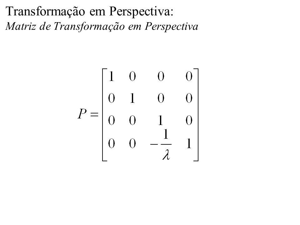 Transformação em Perspectiva: Matriz de Transformação em Perspectiva