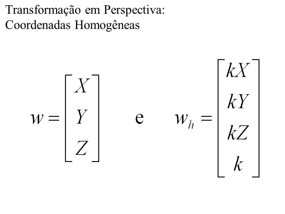 Transformação em Perspectiva: Coordenadas Homogêneas