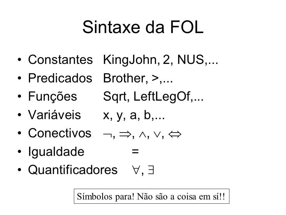 Equívoco comum Tipicamente, é o principal conectivo para ser usado com Equívoco comum: usar como o principal conectivo com : x Rei(x) Pessoa(x) i.e.