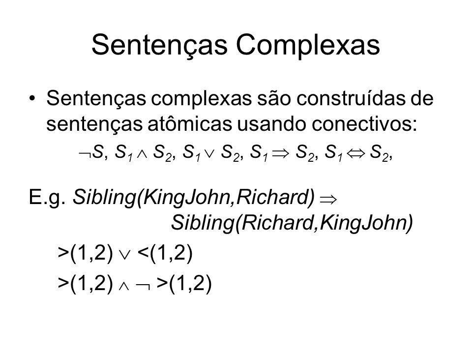 Semântica em lógica de primeira ordem A semântica deve relacionar sentenças a modelos a fim de determinar verdade.