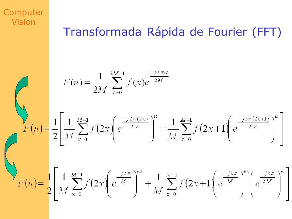 Computer Vision Transformada Rápida de Fourier (FFT) para u = 0,1,2...,M-1 F par (u) F impar (u)