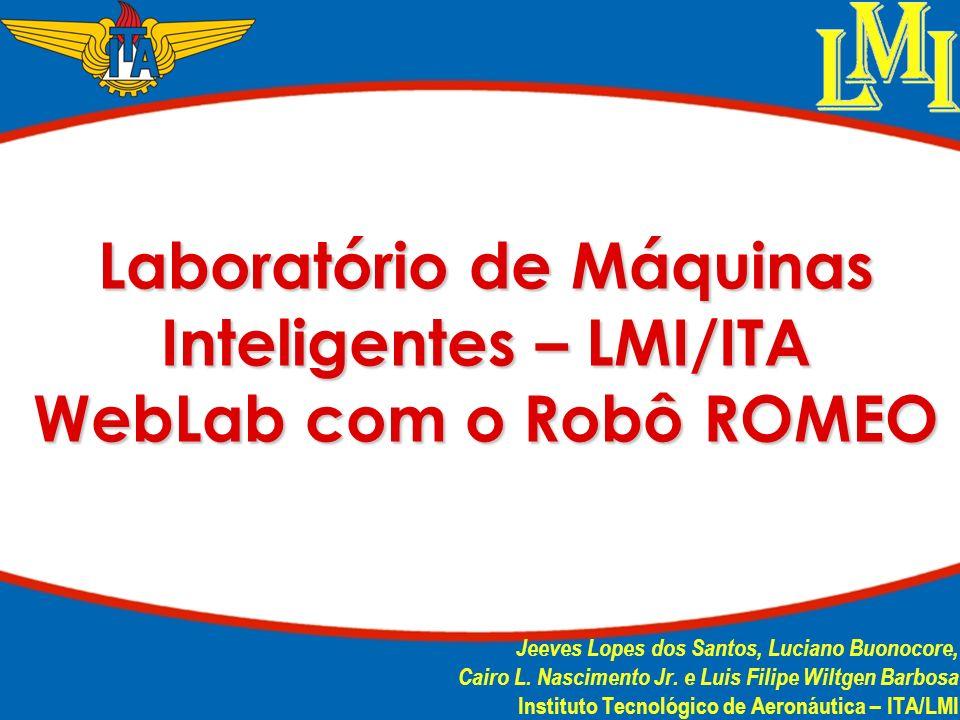 Laboratório de Máquinas Inteligentes – LMI/ITA WebLab com o Robô ROMEO Jeeves Lopes dos Santos, Luciano Buonocore, Cairo L. Nascimento Jr. e Luis Fili