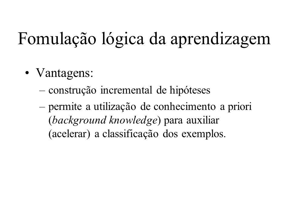 Sistema real: –aprendizagem de arco [P.Winston 1970] Desvantagens...
