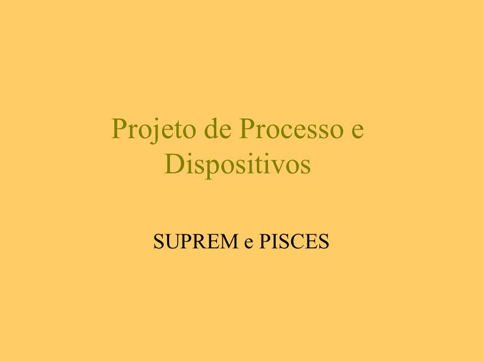 Projeto de Processo e Dispositivos SUPREM e PISCES