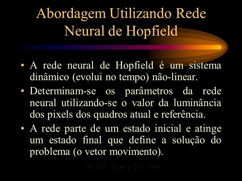 Abordagem Utilizando Rede Neural de Hopfield Rede neural uni-dimensional: