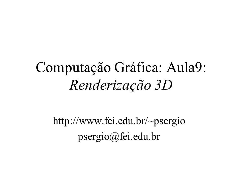 Computação Gráfica: Aula9: Renderização 3D http://www.fei.edu.br/~psergio psergio@fei.edu.br