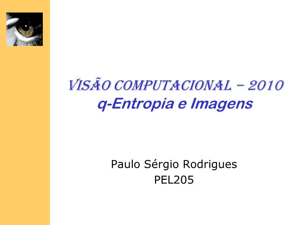 Visão Computacional – 2010 q-Entropia e Imagens Paulo Sérgio Rodrigues PEL205