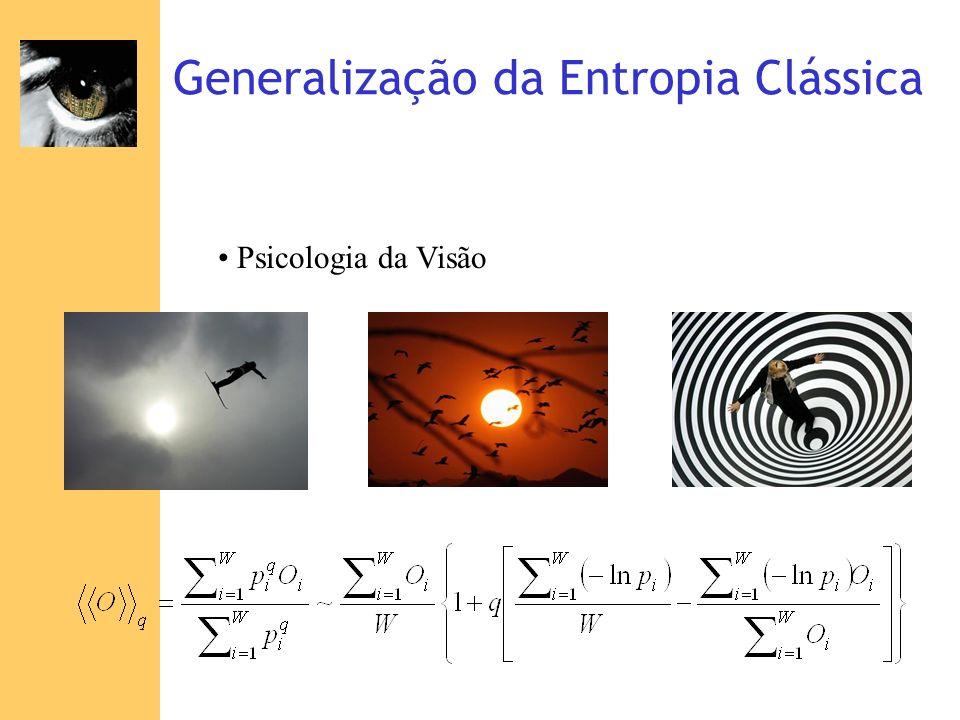 Generalização da Entropia Clássica Psicologia da Visão