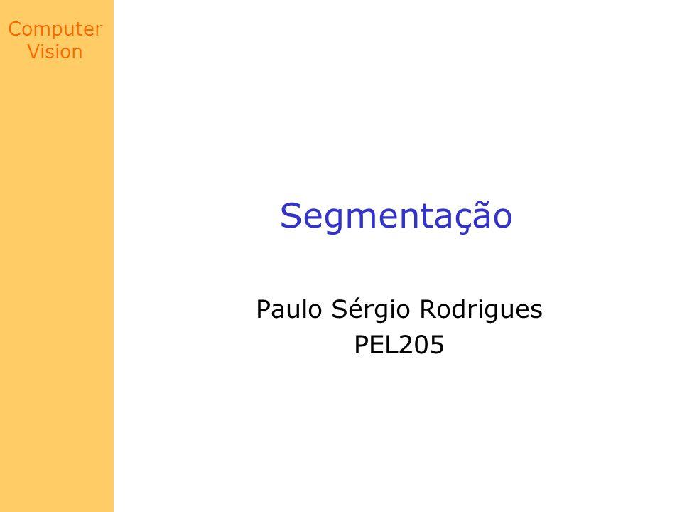 Computer Vision Segmentação Paulo Sérgio Rodrigues PEL205