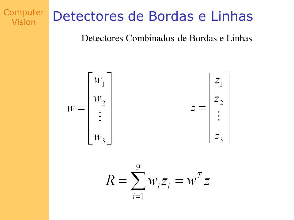 Computer Vision Detectores de Bordas e Linhas Detectores Combinados de Bordas e Linhas