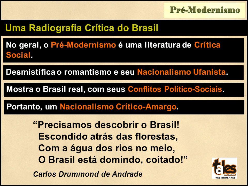 No geral, o Pré-Modernismo é uma literatura de Crítica Social. Pré-Modernismo Uma Radiografia Crítica do Brasil Mostra o Brasil real, com seus Conflit