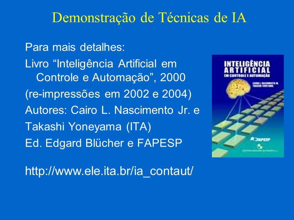 Para mais detalhes: Livro Inteligência Artificial em Controle e Automação, 2000 (re-impressões em 2002 e 2004) Autores: Cairo L. Nascimento Jr. e Taka