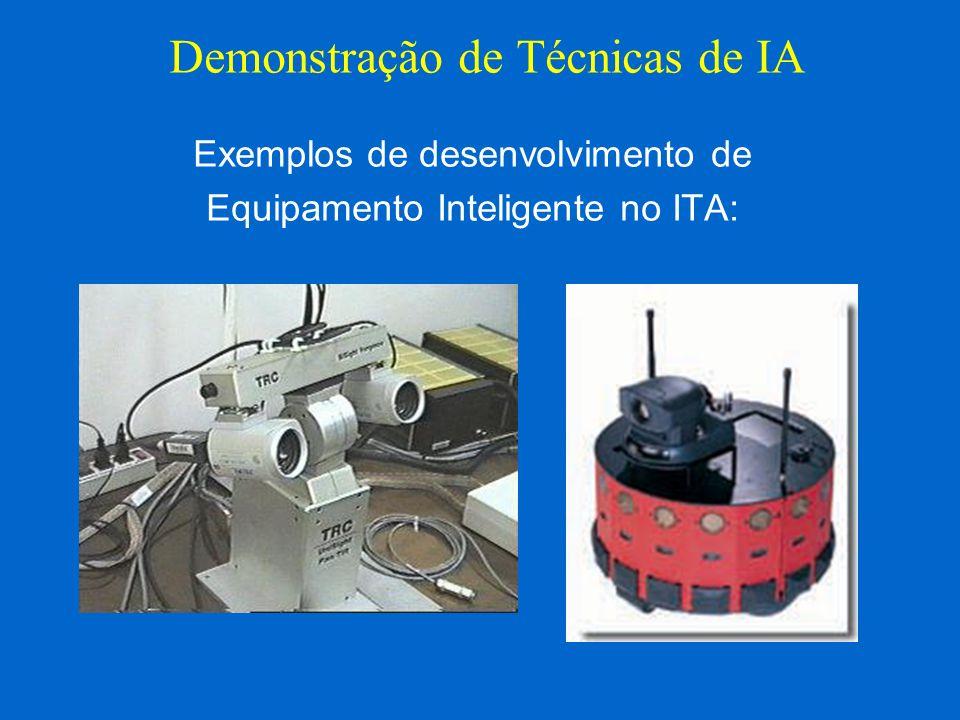 Exemplos de desenvolvimento de Equipamento Inteligente no ITA: Demonstração de Técnicas de IA