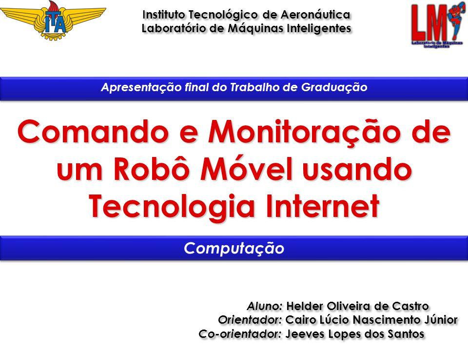 Comando e Monitoração de um Robô Móvel usando Tecnologia Internet Aluno: Helder Oliveira de Castro Orientador: Cairo Lúcio Nascimento Júnior Co-orient