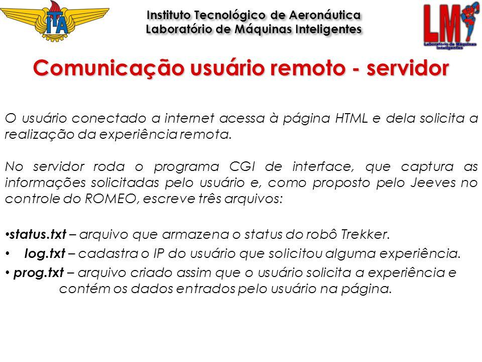 Comunicação usuário remoto - servidor Instituto Tecnológico de Aeronáutica Laboratório de Máquinas Inteligentes Instituto Tecnológico de Aeronáutica L