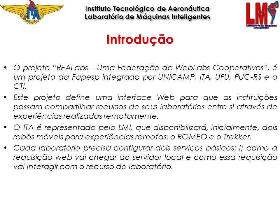 Introdução O projeto REALabs – Uma Federação de WebLabs Cooperativos, é um projeto da Fapesp integrado por UNICAMP, ITA, UFU, PUC-RS e o CTI. Este pro