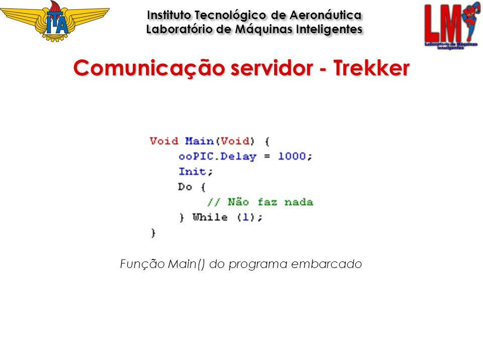 Função Main() do programa embarcado Comunicação servidor - Trekker Instituto Tecnológico de Aeronáutica Laboratório de Máquinas Inteligentes Instituto