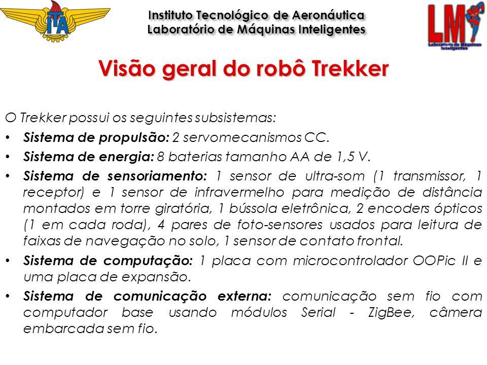 O Trekker possui os seguintes subsistemas: Sistema de propulsão: 2 servomecanismos CC. Sistema de energia: 8 baterias tamanho AA de 1,5 V. Sistema de