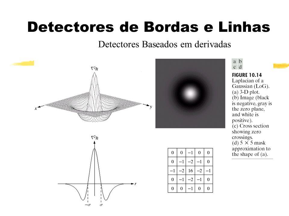Detectores de Bordas e Linhas Detectores Baseados em derivadas