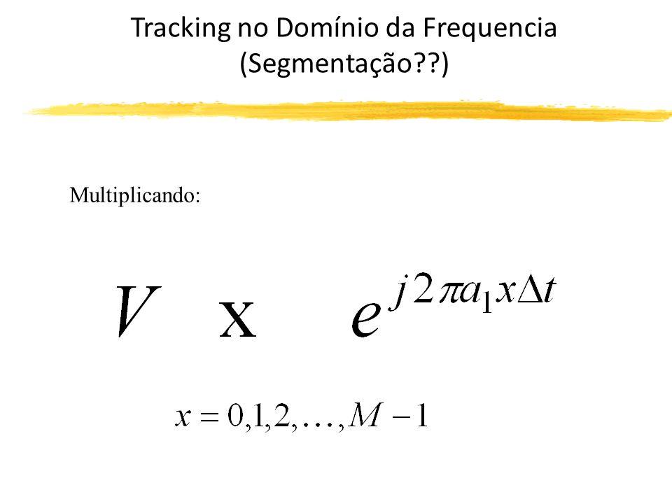 Tracking no Domínio da Frequencia (Segmentação??) Se somarmos os valores de V, temos: