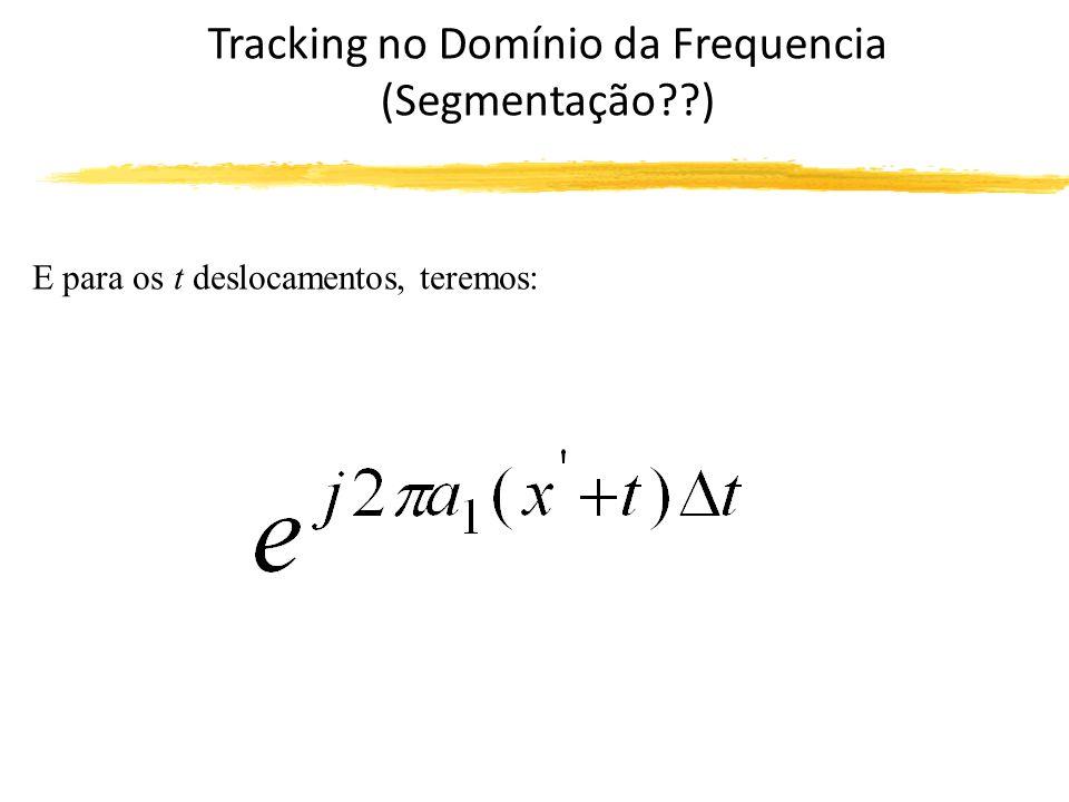 Tracking no Domínio da Frequencia (Segmentação ) E para os t deslocamentos, teremos: