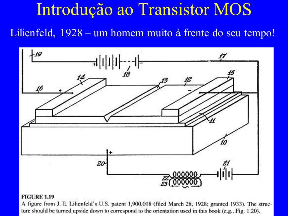 Introdução ao Transistor MOS Lilienfeld, 1928 – um homem muito à frente do seu tempo!