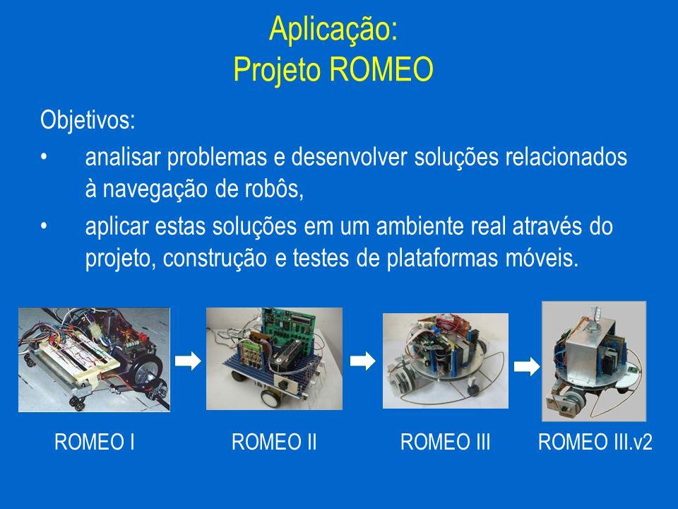 Objetivos: analisar problemas e desenvolver soluções relacionados à navegação de robôs, aplicar estas soluções em um ambiente real através do projeto,