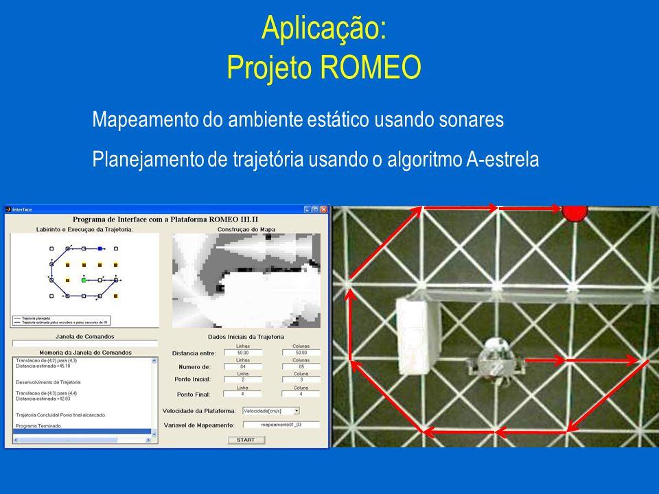 Mapeamento do ambiente estático usando sonares Planejamento de trajetória usando o algoritmo A-estrela