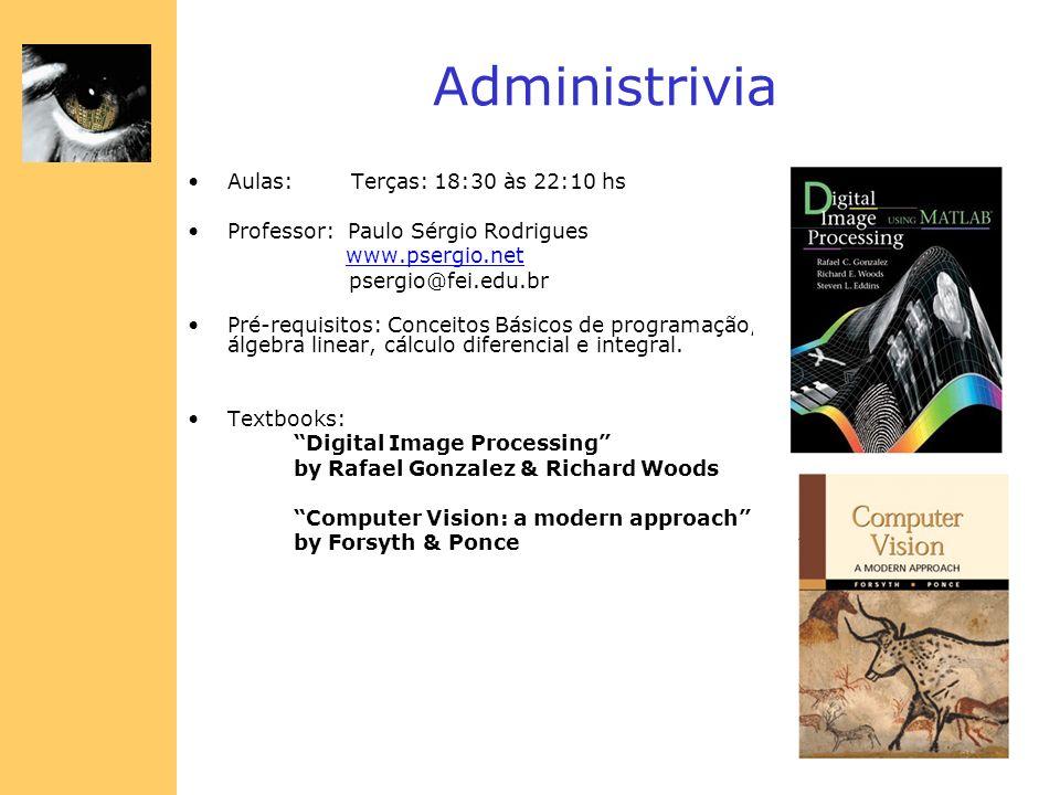 Administrivia Aulas: Terças: 18:30 às 22:10 hs Professor: Paulo Sérgio Rodrigues www.psergio.net psergio@fei.edu.br Pré-requisitos: Conceitos Básicos