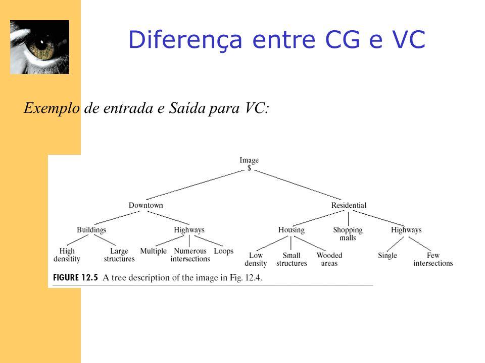 Diferença entre CG e VC Exemplo de entrada e Saída para VC: