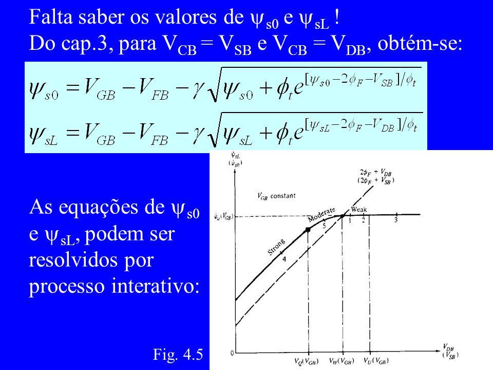 Falta saber os valores de s0 e sL .