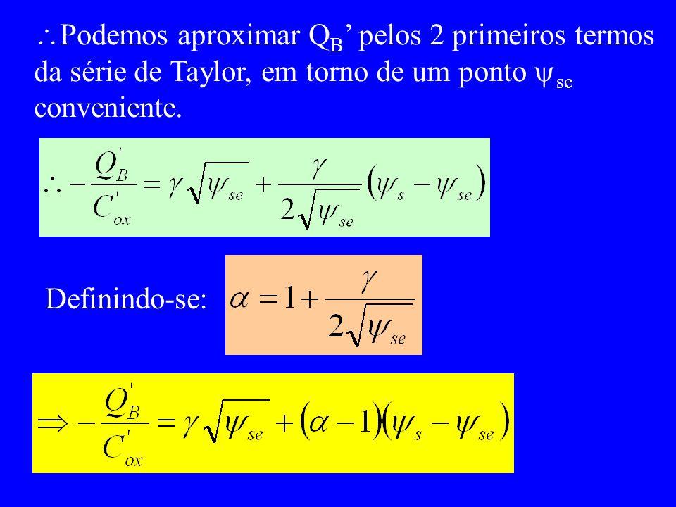 Podemos aproximar Q B pelos 2 primeiros termos da série de Taylor, em torno de um ponto se conveniente.
