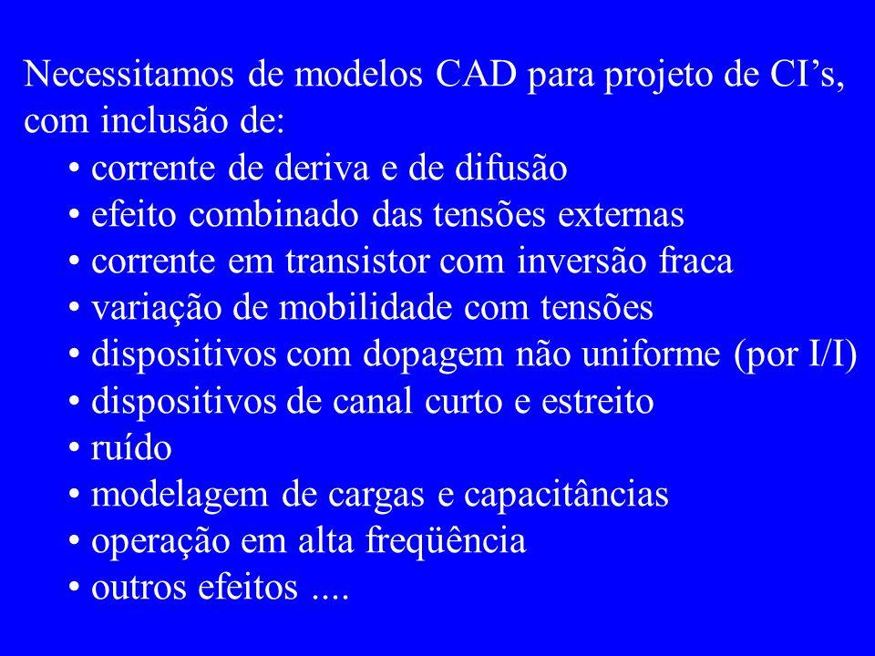 Neste capítulo veremos: corrente DC x tensões nos terminais (regime de estado estacionário).
