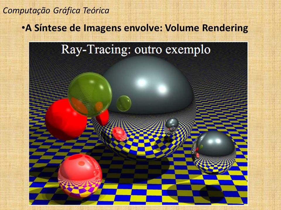 Computação Gráfica Teórica A Síntese de Imagens envolve: Volume Rendering