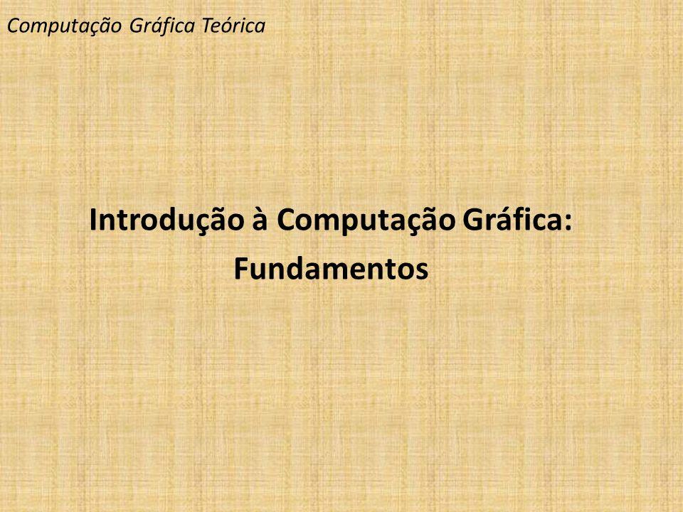 Computação Gráfica Teórica Introdução à Computação Gráfica: Fundamentos