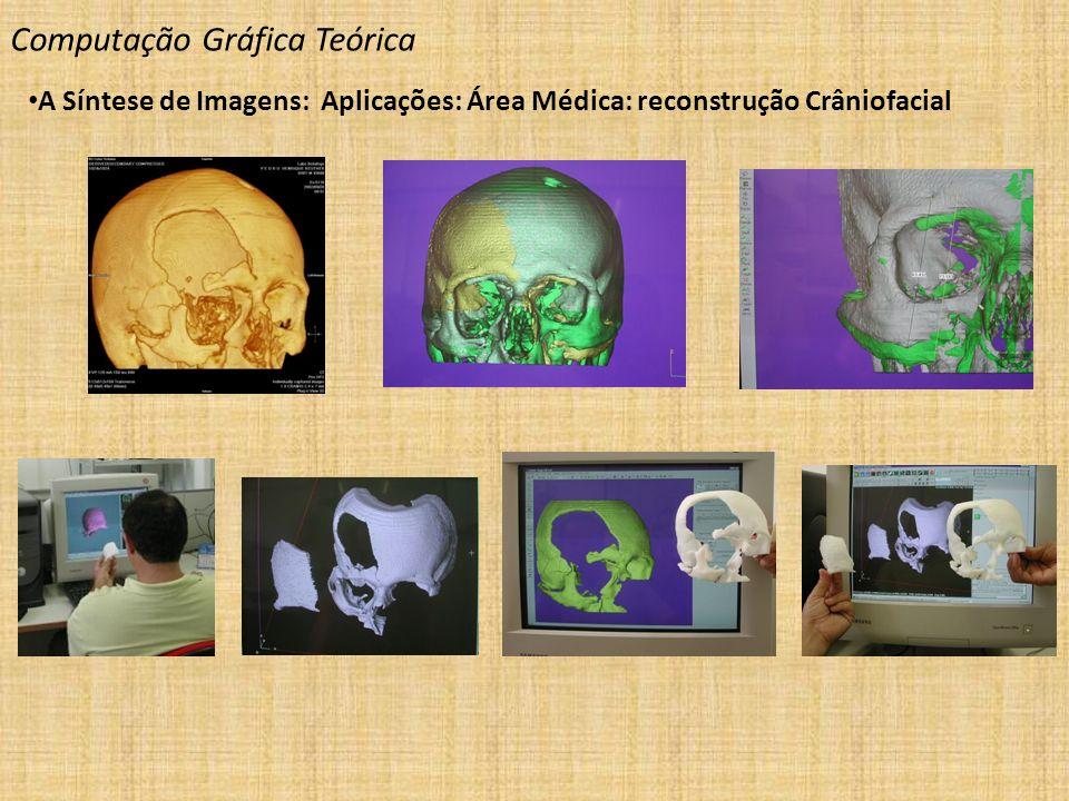 Computação Gráfica Teórica A Síntese de Imagens: Aplicações: Área Médica: reconstrução Crâniofacial
