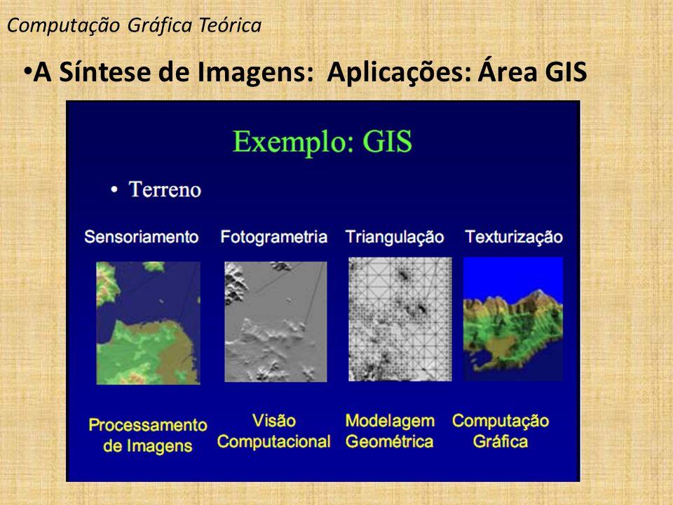 Computação Gráfica Teórica A Síntese de Imagens: Aplicações: Área GIS