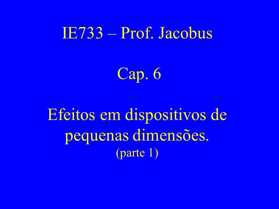 IE733 – Prof. Jacobus Cap. 6 Efeitos em dispositivos de pequenas dimensões. (parte 1)
