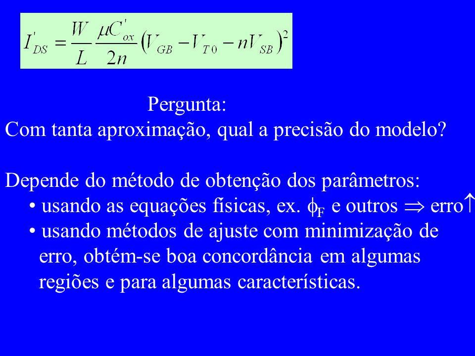 Pergunta: Com tanta aproximação, qual a precisão do modelo.