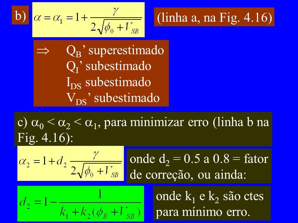 b) (linha a, na Fig.