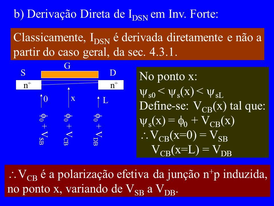 b) Derivação Direta de I DSN em Inv.