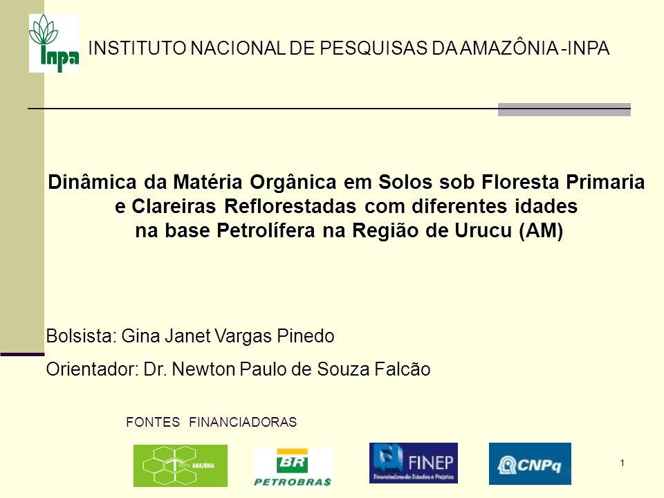 1 Dinâmica da Matéria Orgânica em Solos sob Floresta Primaria e Clareiras Reflorestadas com diferentes idades na base Petrolífera na Região de Urucu (