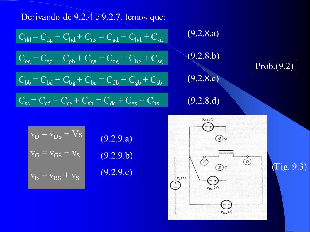 C dd = C dg + C bd + C ds = C gd + C bd + C sd C gg = C gd + C gb + C gs = C dg + C bg + C sg C bb = C bd + C bg + C bs = C db + C gb + C sb C ss = C