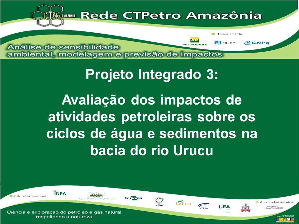Projeto Integrado 3: Avaliação dos impactos de atividades petroleiras sobre os ciclos de água e sedimentos na bacia do rio Urucu