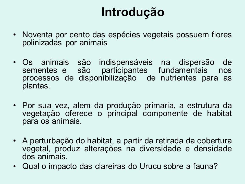 Introdução Noventa por cento das espécies vegetais possuem flores polinizadas por animais Os animais são indispensáveis na dispersão de sementese são